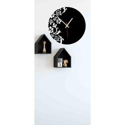 Farbige Wanduhr aus Kunststoff - Blumen, Größe: 30x30 cm