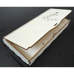 Geschenkbox aus Holz, Größe: 27x12x3,5 cm