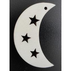 Ozdoby na vianočný stromček - Mesiac, výška: 58mm