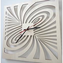 Modern wall clock made of plywood-AMORI