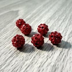 Shamballa Perle - rot FI 10 mm