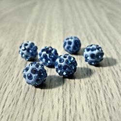 Shamballa Perle - schwaches Blau FI 10 mm