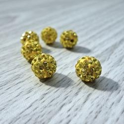 Shamballa Perle - gelb FI 10 mm