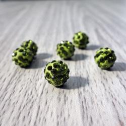 Shamballa Perle - olivgrün FI 10 mm