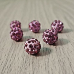 Shamballa Perle - Signal violett FI 10 mm