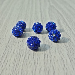 Shamballa Perle - Königsblau FI 10 mm