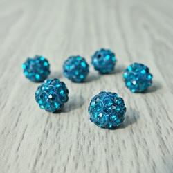 Shamballa Perle - Capri blau FI 10 mm