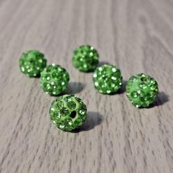 Shamballa Perle - grün FI 10 mm