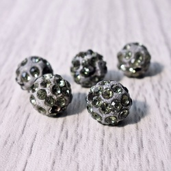 Shamballa Perle - grau FI 10 mm