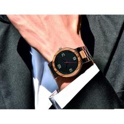 Elegante hölzerne Armbanduhr GEORGIA-Yisuya