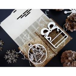 Weihnachtsschmuck aus Holz, 1 Set-12 Stück