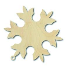 Weihnachtsschmuck aus Holz, Größe: 8,8 x 8,2 cm