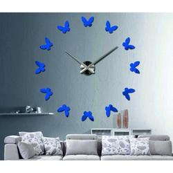 Wandtattoo Uhr Modernes Design Schmetterlinge
