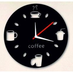 Wanduhren spiegeln Frieden Kaffee bleck
