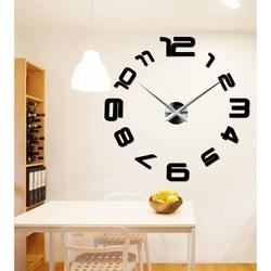 Wandtattoo Uhr Modern Trendige 3D Wanduhr aus Kunststoff