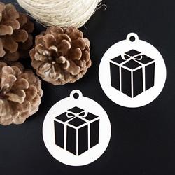 Ornament für Weihnachtsbaum-Überraschung, Größe: 79x90 mm