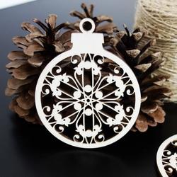 Schneeflocken als Ornament für Weihnachten, Größe: 79x90 mm