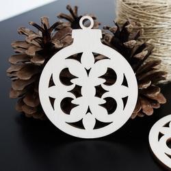 Weihnachtsdekoration für Freude aus Holz, Größe: 79x90 mm