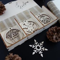 Weihnachtsschmuck aus Holz, 1 Set-18 Stück