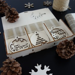 Set Weihnachtsschmuck, 1 Set-18 Stück
