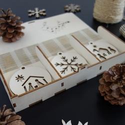 Satz von Weihnachtsdekorationen, die 1 Satz-18 Stücke gefallen werden