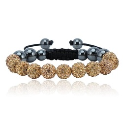 Shamballa armband -BEIGE LUISANA
