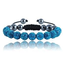 Shamballa armband -BLUE LAREDO