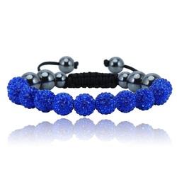 Shamballa armband - DARK BLUE MONET