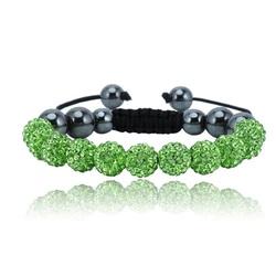 Shamballa armband - GREEN DANILO
