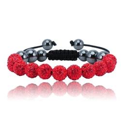 Shamballa armband - RED ALESSIA