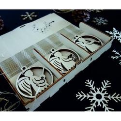 Vintage Holz Weihnachtsschmuck, Das Set enthält 18 Stück