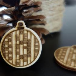 Weihnachtsdekoration aus Holz, Größe: 48x42 mm