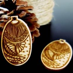 Ornamente für Weihnachtsbaum, Größe: 65x40 mm
