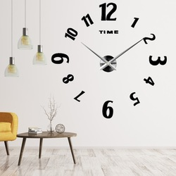 Moderne Wanduhr CHARLIE Wandtattoo Uhr