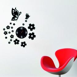 Moderner Wanduhr SX Spiegel Blumen