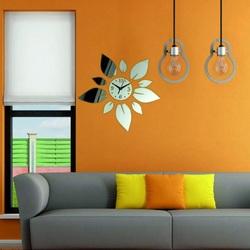 Moderne Wanduhren spiegeln Farbe Wanduhr Würfel