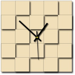 Modernes Wanduhrquadrat (Uhr auf Plastikwand) DEKOFER
