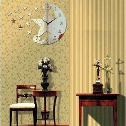 Moderne Wanduhr (Spiegeluhr an oder Wand) TEMPLATES, 30x45cm