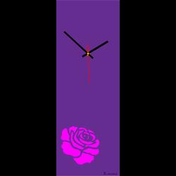 Wanduhr Rose (moderne Uhr an der Wand) Farbe: rosa