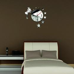 Wanduhr Spiegel (Wanduhr Spiegel) Fee Amalka 45x45 cm