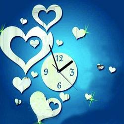 Wanduhr für Herz Wanduhr für Herz Wand 35x50 cm FLEXISTYLE