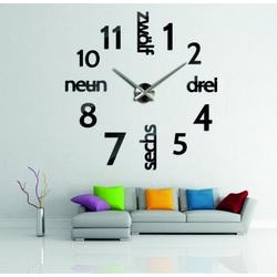Moderne Uhr an der Wand DIY DRYWALL