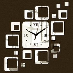 Uhr an der Wand modernes Quadrat 50x40 cm FIGARO