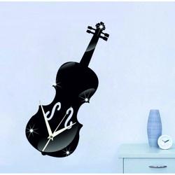 Spiegel Wanduhr Violine 40x15 cm MUSIK