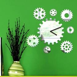 Wanduhr Spiegel Zeitmaschine, 30x30 cm
