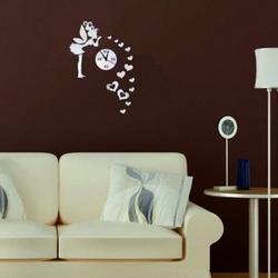Wanduhr im Kinderzimmer, Die Fee der Liebe, 40x70 cm