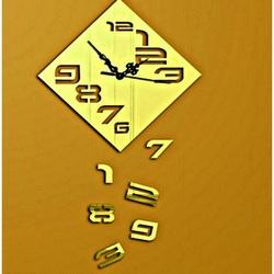 Wanduhr Fallende Zahlen, 35x35 cm