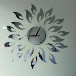 Wandtattoo Uhr  Sonne, 42x42 cm