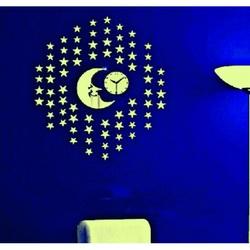 Wanduhr Modern Gute Nacht, 40x40 cm