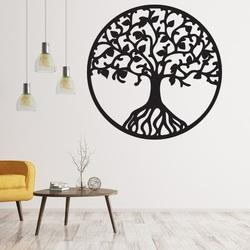 Hölzernes Bild an einer Wand des Sperrholzbaums des Lebens HABULKOVO